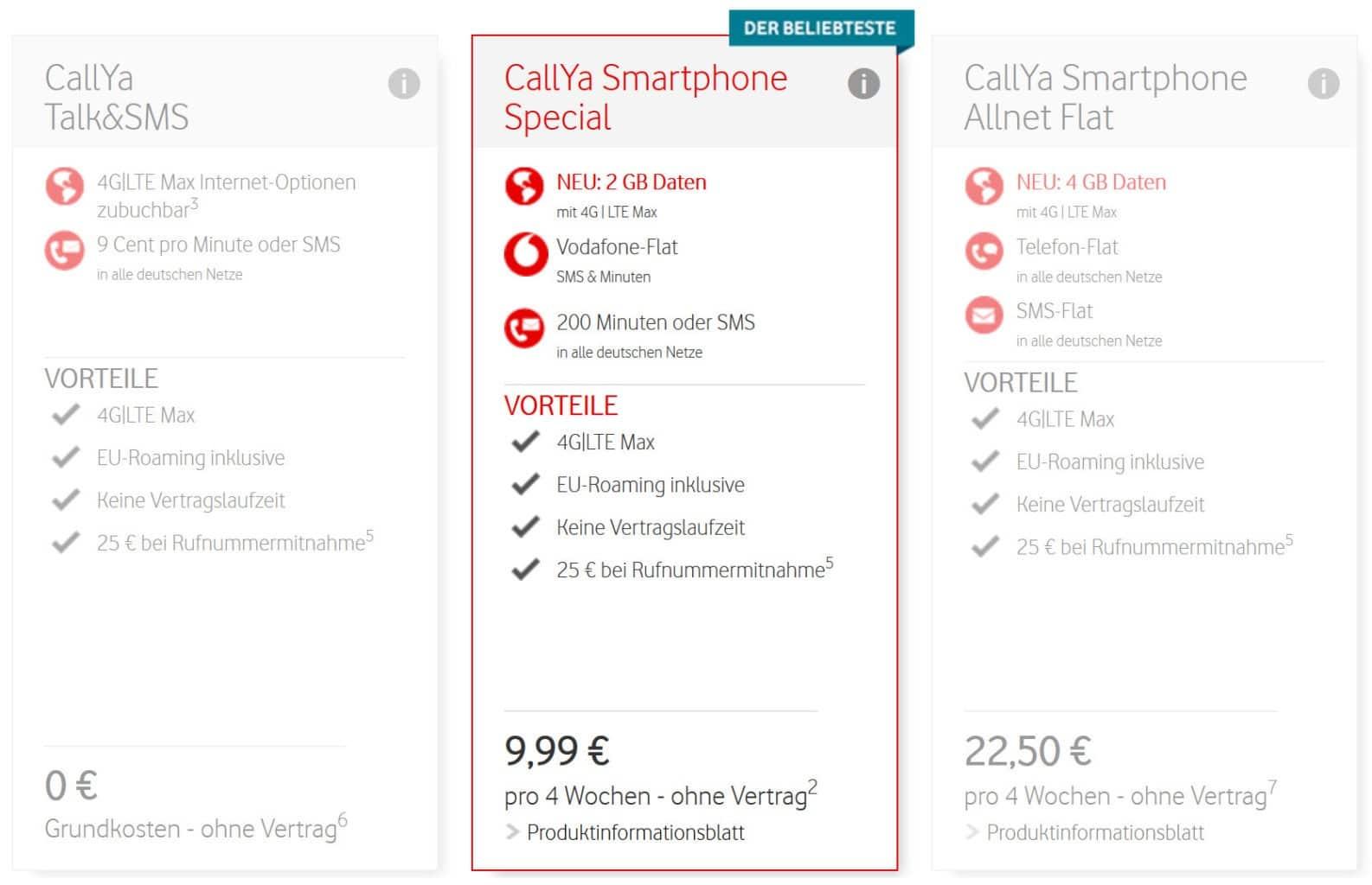 Callya Karte Freischalten.Vodafone Prepaid Tarife Callya Prepaid Karten Ohne Vertrag