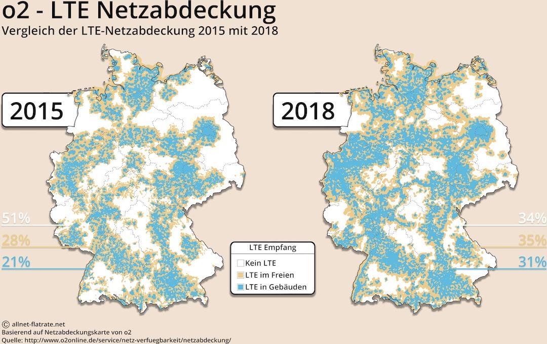 o2 netzabdeckung karte 2020 o2 Netz: Netzabdeckung 4G, 3G, 2G und LTE Verfügbarkeit
