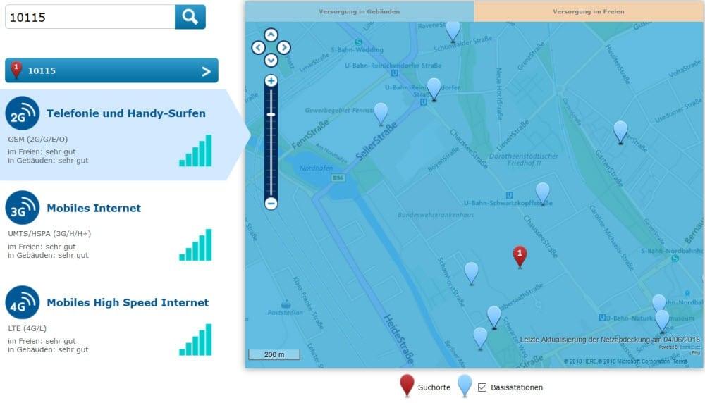 Lte Netzabdeckung Karte.O2 Netz Netzabdeckung 4g 3g 2g Und Lte Verfugbarkeit