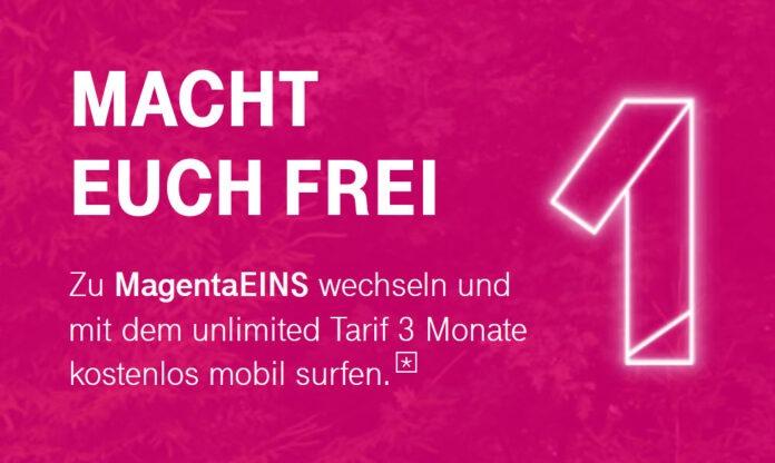 Telekom Magentamobil Free 3 Monate Kostenlos Ohne Limit Surfen