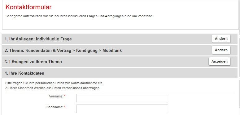 Vodafone Handyvertrag Kündigen Kündigung Per Fax Brief Online