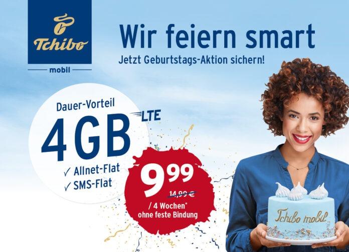 Tchibo mobil wird 15 Aktionstarif mit Allnet und 4 GB für 9,99 Euro